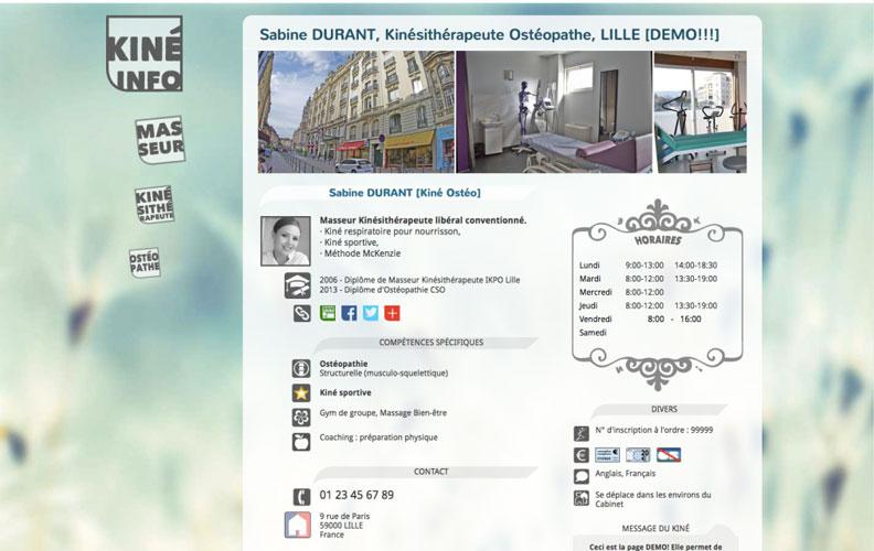 page kiné.info